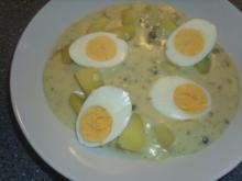 Eier in einer Kapern-Senf Soße - Rezept