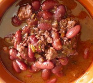 Vegan mit Sojaflocken : Chili Non Carne - Rezept