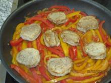 Schweinemedallions auf Paprikagemüse - Rezept