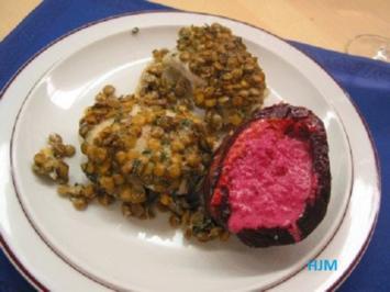 Rezept: Zanderfilet mit Ingwer-Berglinsen auf Zitronengrasschaum