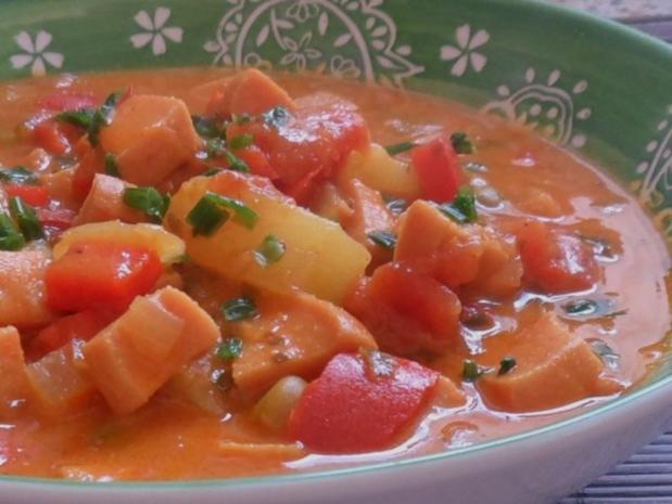 Fruchtiges Wurst-Gulasch mit Ananas & Paprika - Rezept - Bild Nr. 11