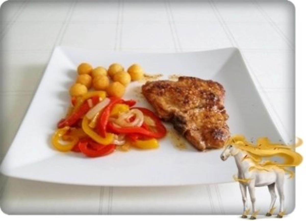 Schweinekotelett mit Kartoffelbällchen und Paprikasalat - Rezept Durch 2010Herford