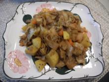 Vegan : Geschmortes Kraut mit Kartoffelwürfel - Rezept