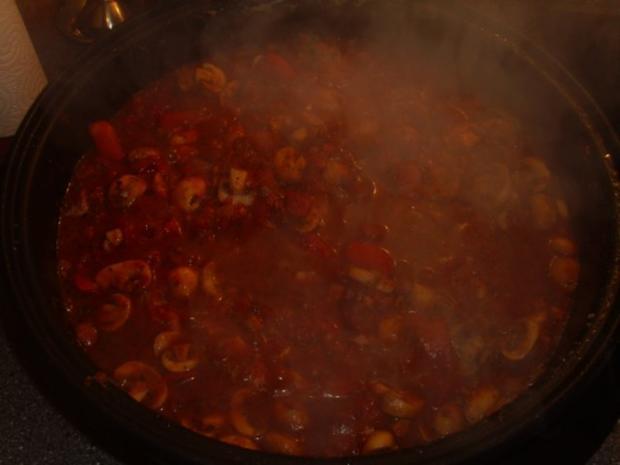 Nudeln mit Pilzen in Tomaten-Feta Creme - Rezept - Bild Nr. 3