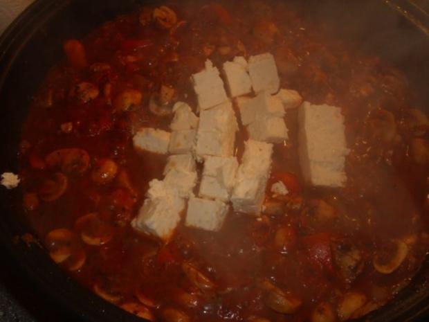 Nudeln mit Pilzen in Tomaten-Feta Creme - Rezept - Bild Nr. 4