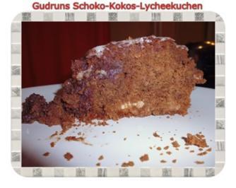 Kuchen: Schoko-Kokos-Lycheekuchen - Rezept