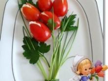 """""""Tulpen Strauß""""  als kreative Vorspeise - Rezept"""
