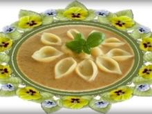 Cremige Champignonsuppe mit Conchiglie - Rezept