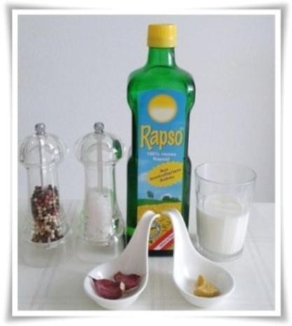 Mayonnaise ohne Eier als Basis für eine Kräuter Sauce - Rezept - Bild Nr. 2