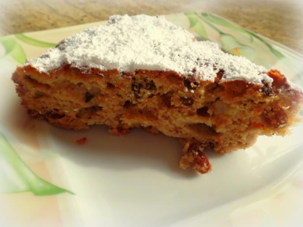 Apfel-Zimt-Nuss-Kuchen - Rezept
