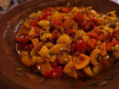 Scharfes Gemüse in der Tajine - Rezept