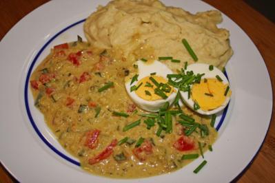 Eier in Zucchini-Senf-Soße - Rezept