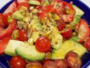 Salat Erdbeer Acocado Tomate  = SEAT - Rezept
