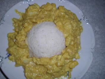 Kabeljau in Curry-Senfsauce - Rezept