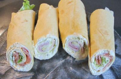 Wraps mit Lachs und Käse/Schinken - Rezept