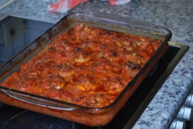 Gefüllte Riesenchampignons In Tomaten Sahnesoße Rezept Kochbarde