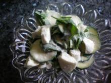 Salat: Zucchini-Bärlauchsalat mit Büffelmozzarella - Rezept