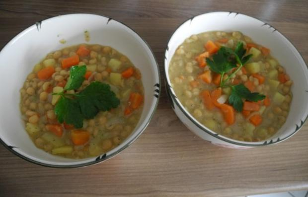 Vegan : Schnelle Erbsensuppe - Rezept - Bild Nr. 2