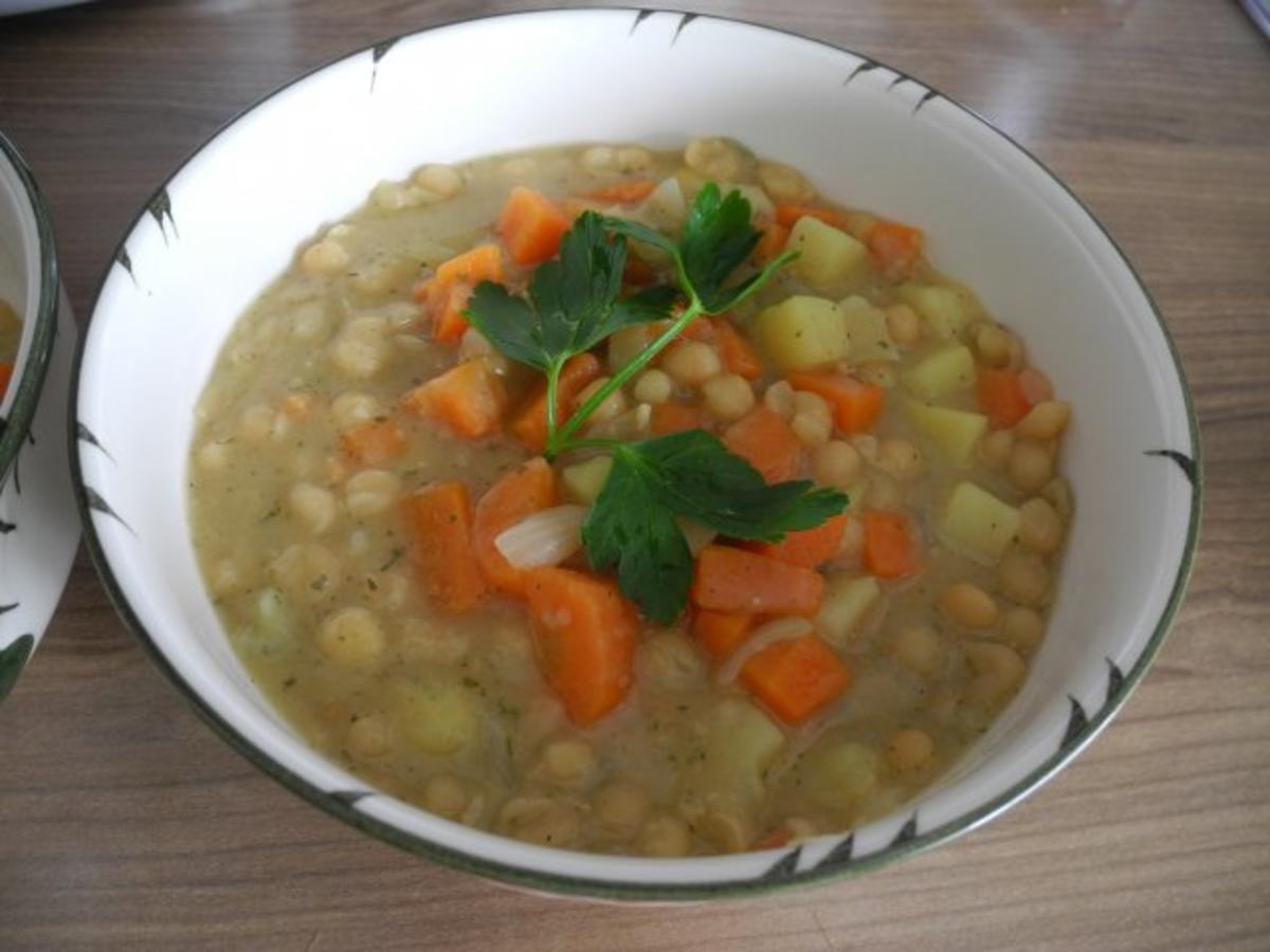 Bilder für Vegan : Schnelle Erbsensuppe - Rezept