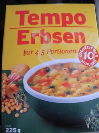 Vegan : Schnelle Erbsensuppe - Rezept - Bild Nr. 9