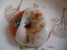 überbackene Tomaten mit Basilikum und Ziegenkäse - Rezept