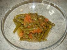 Grüne Bohnen in Olivenöl - Rezept