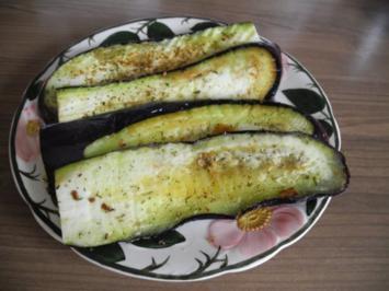 Vegan : Aubegine gebraten - eine leckere Gemüsebeilage - Rezept