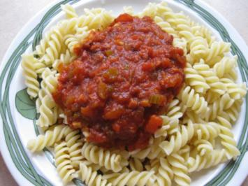 Fusilli all' amatriciana - Rezept