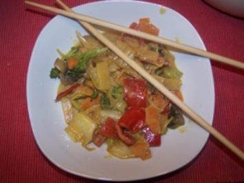 China Gemüse in Kokossauce - Rezept