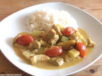 Schweineragout in Currysauce - Rezept