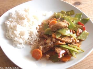 Hähnchen-Gemüse-Pfanne - Rezept
