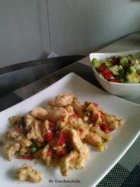 Hähnchenbrust mit Paprika/Lauch Gemüse - Rezept