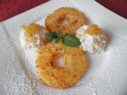 Kokos - Milchreis mit karamelisierter Ananas ... - Rezept