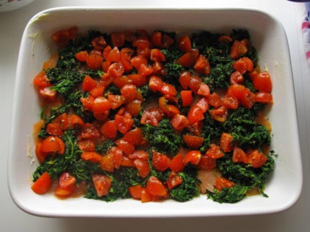 Spargelauflauf mit Spinat, Tomaten und Lachs - Rezept - Bild Nr. 6