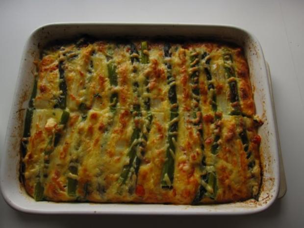 Spargelauflauf mit Spinat, Tomaten und Lachs - Rezept - Bild Nr. 9