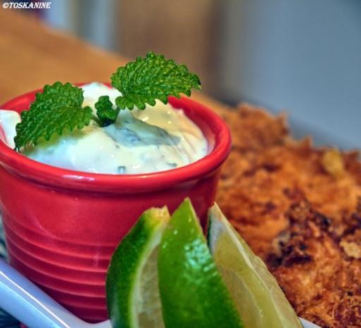 Hähnchen-Schnitzel Asia-Style mit Kräuter-Dip - Rezept