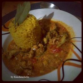 Hähnchenbrust mit Paprika & Curry - Rezept
