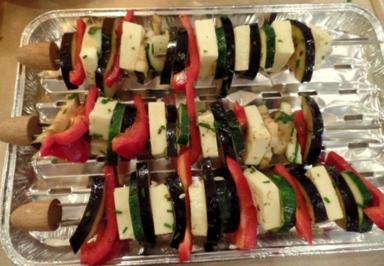 Halloumi-Gemüse-Grillspieße - Rezept