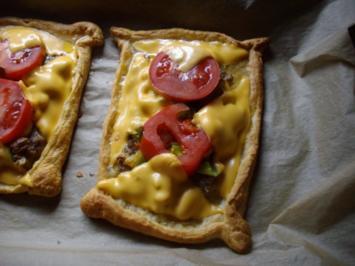 hack-porree-käse snacks - Rezept
