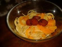Dinkel-Spaghettini mit Vanille-Chili-Sauce - Rezept