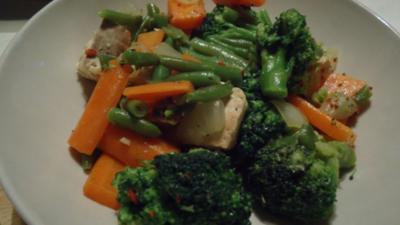 Rezept: Wildlachs mit Gemüse