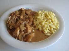 Hähnchengeschnetzeltes an Sauce mit Estragon - Rezept