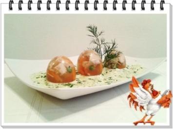 Sülze - Ostereier auf Kräutersauce - Rezept