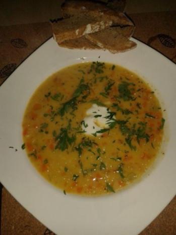 Linsen-Kokos-Currysuppe - Rezept