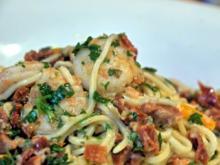 Spaghetti mit würzigen Garnelen - Rezept