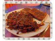 Vegetarisch: Tempeh-Schnitzel mit Asiagemüse - Rezept