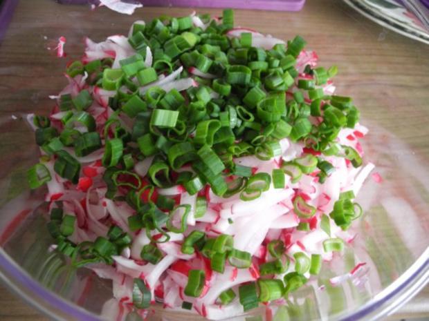 Salat : Radieschen - Salat mit Frühlingszwiebeln - Rezept - Bild Nr. 2
