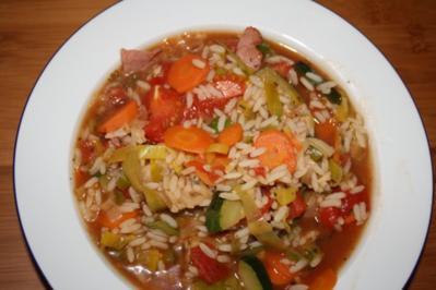 Gemüseeintopf mit Reis - Rezept