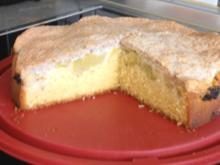 Rhabarberkuchen mit Mandel-Baiser - Rezept
