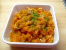 Karamelisierten Möhren - Rezept